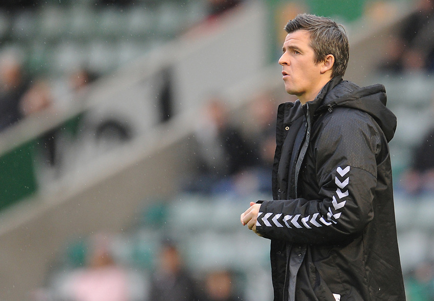 Fleetwood Town manager Joey Barton <br /> <br /> Photographer Kevin Barnes/CameraSport<br /> <br /> The EFL Sky Bet League One - Plymouth Argyle v Fleetwood Town - Saturday 24th November 2018 - Home Park - Plymouth<br /> <br /> World Copyright © 2018 CameraSport. All rights reserved. 43 Linden Ave. Countesthorpe. Leicester. England. LE8 5PG - Tel: +44 (0) 116 277 4147 - admin@camerasport.com - www.camerasport.com
