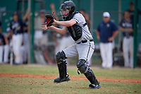 Edgewood Eagles catcher Alex Prindle (15) during the second game of a double header against the Bethel Wildcats on March 15, 2019 at Terry Park in Fort Myers, Florida.  Bethel defeated Edgewood 3-2.  (Mike Janes/Four Seam Images)