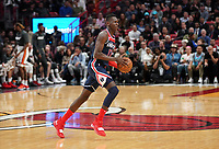 Isaac Bonga (G/F, Washington Wizards, #17) am Ball - 22.01.2020: Miami Heat vs. Washington Wizards, American Airlines Arena