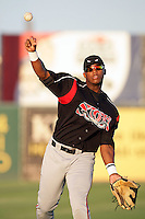 Rymer Liriano of the Lake Elsinore Storm during game against the Lancaster JetHawks at Clear Channel Stadium in Lancaster,California on September 1, 2010. Photo by Larry Goren/Four Seam Images