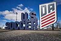 Commerce City, CO - Friday April 27, 2019: U.S. Soccer Girl's Development Academy Spring Showcase at Dick's Sporting Goods Park.