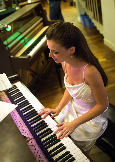 Gabrielle Jeanselme, musician, pianist and singer at Paris Boogie Speakeasy, 256 rue Marcadet, Paris 18e. 28th June 2013.