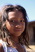 Mato Grosso, Brazil. Young Rikbaktsa (Canoeiro) Indian girl.