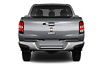 Straight rear view of 2017 Fiat Fullback Pack-Lusso 4 Door Pickup Rear View  stock images