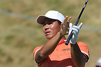 Ashun Wu (CHN) tees off the 8th tee during Friday's Round 2 of the 2018 Dubai Duty Free Irish Open, held at Ballyliffin Golf Club, Ireland. 6th July 2018.<br /> Picture: Eoin Clarke | Golffile<br /> <br /> <br /> All photos usage must carry mandatory copyright credit (&copy; Golffile | Eoin Clarke)