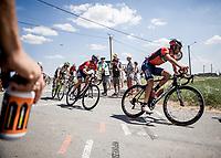 Vicenzo Nibali (ITA/Bahrain Merida) cornering. <br /> <br /> Stage 9: Arras Citadelle > Roubaix (154km)<br /> <br /> 105th Tour de France 2018<br /> ©kramon
