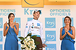 Pierre Latour (FRA) AG2R La Mondiale retains the White Jersey at the end of Stage 15 of the 2018 Tour de France running 218km from Carcassonne to Bagneres-de-Luchon, France. 24th July 2018. <br /> Picture: ASO/Pauline Ballet | Cyclefile<br /> All photos usage must carry mandatory copyright credit (© Cyclefile | ASO/Pauline Ballet)