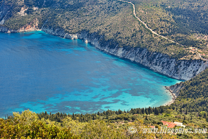 Afales Bay in Ithaki island, Greece