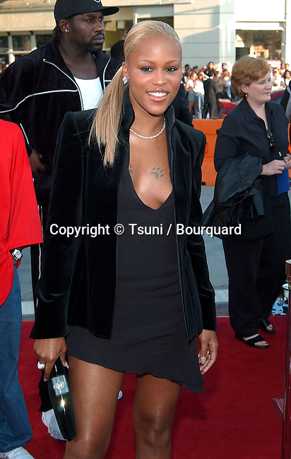 Eve arriving at the premiere of  of xXx (triple X) at The Westwood Village Theatre in Los Angeles. August 5, 2002.           -            Eve21.jpg
