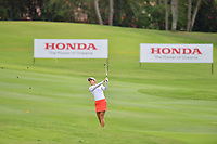 PATTAYA, THAILAND - FEBRUARY 22: Azahara Munoz of Spain on the 18th fairway during the second round of the Honda LPGA Thailand 2019 at Siam Country Club Pattaya (Old Course), Pattaya, Thailand on February 22, 2019.<br /> .<br /> .<br /> .<br /> (Photo by: Naratip Golf Srisupab/SEALs Sports Images)<br /> .<br /> Any image use must include a mandatory credit line adjacent to the content which should read: Naratip Golf Srisupab/SEALs Sports Images