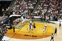 6 April 2008: Stanford Cardinal Jayne Appel, Jillian Harmon, Kayla Pedersen, Candice Wiggins, and JJ Hones during Stanford's 82-73 win against the Connecticut Huskies in the 2008 NCAA Division I Women's Basketball Final Four semifinal game at the St. Pete Times Forum Arena in Tampa Bay, FL.