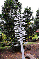 Signpost on island of Oahu, Hawaii.
