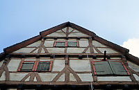 Bad Wimpfen: Fachwerk, upper facade. Shuttered windows. Photo '87.