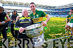 Declan O'Sullivan. Kerry players celebrate their victory over Donegal in the All Ireland Senior Football Final in Croke Park Dublin on Sunday 21st September 2014.