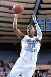 23 March 2014: North Carolina's Diamond DeShields. The University of North Carolina Tar Heels played the University of Tennessee Martin Skyhaws in an NCAA Division I Women's Basketball Tournament First Round game at Cameron Indoor Stadium in Durham, North Carolina. UNC won the game 60-58.