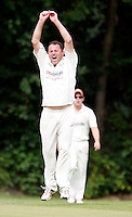 Tony Duckett feels the frustration at being denied an LBW during the Middlesex County League Division Three game between Highgate and Bessborough at Park Road, Crouch End on Sat Sept 4, 2010