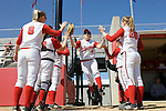 MADISON, WI - APRIL 16: Outfielder Sam Polito #4 of the Wisconsin Badgers softball team takes the field against the Indiana Hoosiers at Goodman Diamond on April 16, 2007 in Madison, Wisconsin. (Photo by David Stluka)