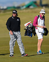 Pat Perez of USA smiles during Round 3 of the 2015 Alfred Dunhill Links Championship at the Old Course, St Andrews, in Fife, Scotland on 3/10/15.<br /> Picture: Richard Martin-Roberts | Golffile