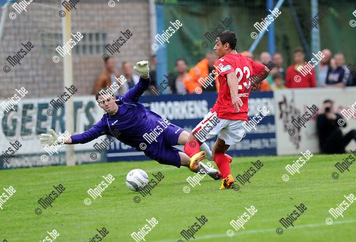 2013-07-03 / Voetbal / seizoen 2013-2014 / Wijnegem - R. Antwerp FC / Jordan Faucher scoort voor Antwerp<br /><br />Foto: Mpics.be