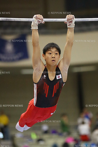 Kanato Nagasaki (), <br /> AUGUST 21, 2017 - Artistic Gymnastics : <br /> 48th All Japan Junior High School Championships <br /> Men's Individual All-Around <br /> Horizontal Bar <br /> at Kitakyushu City General Gymnasium, Fukuoka, Japan. <br /> (Photo by YUTAKA/AFLO)