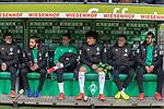 10.02.2019, Weser Stadion, Bremen, GER, 1.FBL, Werder Bremen vs FC Augsburg, <br /> <br /> DFL REGULATIONS PROHIBIT ANY USE OF PHOTOGRAPHS AS IMAGE SEQUENCES AND/OR QUASI-VIDEO.<br /> <br />  im Bild<br /> <br />  auf der Ersatzbank v.li<br /> Joshua Sargent (Werder Bremen #19)<br /> Nuri Sahin (Werder Bremen #17)<br /> Marco Friedl (Werder Bremen #32)<br /> Milos Veljkovic (Werder Bremen #13)<br /> Kevin M&ouml;hwald / Moehwald (Werder Bremen #06)<br /> Claudio Pizarro (Werder Bremen #04)<br /> <br /> Foto &copy; nordphoto / Kokenge