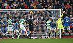 Moussa Dembele's shot hits the back of the net to pull Celtic level