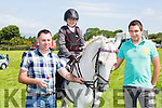 Hugh O'Reilly, April O'reilly, and David O'Reilly with Tilly the Second at the Killorglin Pony show on Sunday