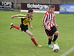 Drogheda Town Mathew Askins Walshestown Aaron McDonnell . Photo:Colin Bell/pressphotos.ie