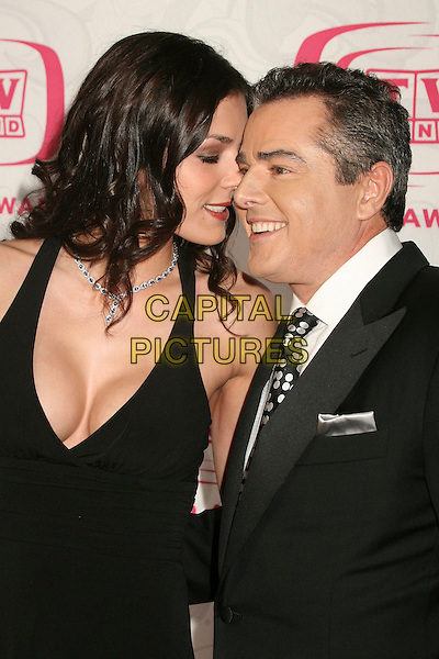ADRIANNE CURRY & CHRISTOPHER KNIGHT.5th Annual TV Land Awards at Barker Hangar, Santa Monica, California, USA, 14 April 2007..half length black halterneck dress cleavage.CAP/ADM/BP.©Byron Purvis/AdMedia/Capital Pictures.