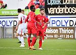 2018-06-22 / Voetbal / Seizoen 2018-2019 / Hoogstraten VV - R. Antwerp FC / Antwerp viert de 0-1 van Antoine Bernier<br /> <br /> ,Foto: Mpics