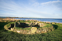 The Barnhouse Settlement Neolithic village, Loch of Harray, Orkney, Scotland