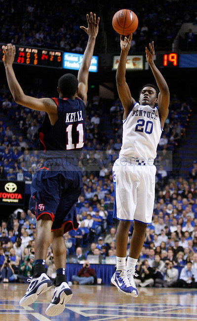 UK's Doron Lamb shoots a three against Samford at Rupp Arena on Tuesday, Dec. 20, 2011. Photo by Scott Hannigan | Staff