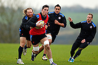 Francois Louw in action. Bath Rugby training session on November 25, 2014 at Farleigh House in Bath, England. Photo by: Patrick Khachfe / Onside Images