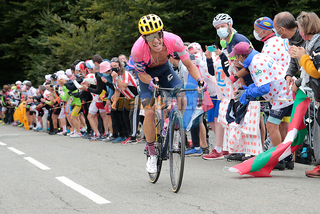 Rigoberto Uran (COL) EF Pro Cycling climbs Col de Marie Blanque during Stage 9 of Tour de France 2020, running 153km from Pau to Laruns, France. 6th September 2020. <br /> Picture: Colin Flockton | Cyclefile<br /> All photos usage must carry mandatory copyright credit (© Cyclefile | Colin Flockton)