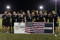 LAKEWOOD RANCH, FL - December 4, 2016:  The U.S. Men's National team U-17s vs Brazil.  2016 Nike International Friendlies at Premier Sports Campus.