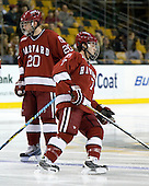 Louis Leblanc (Harvard - 20), Chad Morin (Harvard - 7) - The Boston College Eagles defeated the Harvard University Crimson 6-0 on Monday, February 1, 2010, in the first round of the 2010 Beanpot at the TD Garden in Boston, Massachusetts.