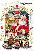 Marcello, CHRISTMAS SANTA, SNOWMAN, WEIHNACHTSMÄNNER, SCHNEEMÄNNER, PAPÁ NOEL, MUÑECOS DE NIEVE, paintings+++++,ITMCXM1945A,#X#