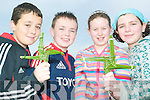 Killacrim crosses: Some of the pupils of Killacrim National School who will be selling their hand made St Brigid's crosses in Listowel this Saturday evening for charity. L-r Con O'Gorman and Eddie Horgan (6th class) and Amy McNamara and Geraldine Joy (5th class)
