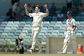 November 5th 2017, WACA Ground, Perth Australia; International cricket tour, Western Australia versus England, day 2; Chris Woakes reacts to a missed catch of his bowling during his spell