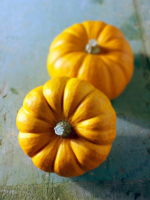 Fresh whole Mini Orange Pumpkins