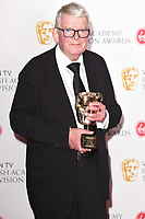 John Motson<br /> in the winners room for the BAFTA TV Awards 2018 at the Royal Festival Hall, London<br /> <br /> ©Ash Knotek  D3401  13/05/2018