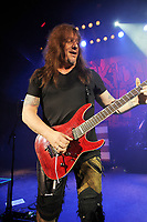 LONDON, ENGLAND - MARCH 11: Dave 'The Snake' Sabo of 'Skid Row' performing at Shepherd's Bush Empire on March 11, 2018 in London, England.<br /> CAP/MAR<br /> &copy;MAR/Capital Pictures