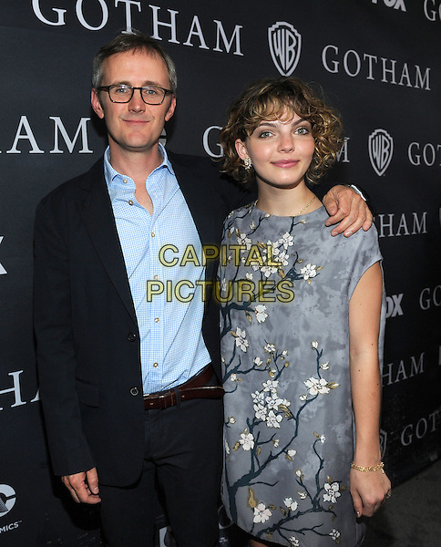 LOS ANGELES - APRIL 28: Executive Producer John Stephens and Camren Bicondova attend FOX's 'Gotham' finale screening event at The Landmark Theatre on April 28, 2015 in Los Angeles, California. <br /> CAP/MPI/PGFM<br /> &copy;PGFM/MPI/Capital Pictures