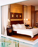 SINGAPORE, Asia, interior of bedroom at the Sentosa Hotel