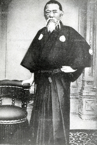 """Undated - Shozo Tanaka (1841-1913) was a statesman in the Meiji period, elected for 7 terms as a member of the Lower House. He is widely acknowledged as Japan's """"first conservationist"""" A former village headman, in the 1890s he led the fight against the Ashio Copper Mine's pollution of the Watarase and Tone rivers northwest of Tokyo. He submitted a direct petition to the Emperor Meiji on December 10, 1901.  (Photo by Kingendai Photo Library/AFLO)"""