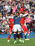 Scotland's Ikechi Anya tussles with England's Ryan Bertrand during the FIFA World Cup Qualifying match at Hampden Park Stadium, Glasgow Picture date 10th June 2017. Picture credit should read: David Klein/Sportimage