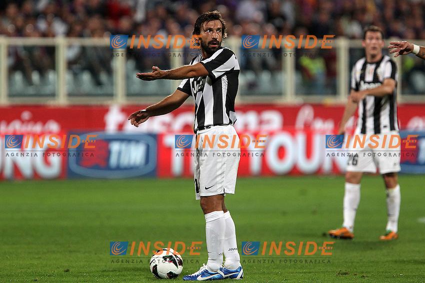 "Andrea Pirlo Juventus Adam Ljajic Fiorentina..Firenze 25/09/2012 Stadio ""Franchi""..Football Calcio Serie A 2012/13..Fiorentina v Juventus..Foto Insidefoto Paolo Nucci.."