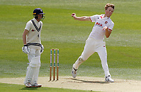 Ben Allison of Essex in bowling action during Kent CCC vs Essex CCC, Friendly Match Cricket at The Spitfire Ground on 27th July 2020