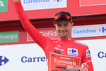 Nicolas Roche (IRL) Team Sunweb retains the race leaders Red Jersey at the end of Stage 3 of La Vuelta 2019 running 188km from Ibi. Ciudad del Juguete to Alicante, Spain. 26th August 2019.<br /> Picture: Eoin Clarke | Cyclefile<br /> <br /> All photos usage must carry mandatory copyright credit (© Cyclefile | Eoin Clarke)