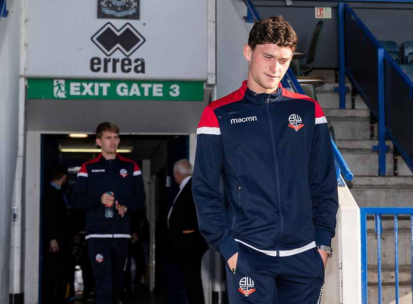 Bolton Wanderers' Joe White goes out to inspect the pitch before the match<br /> <br /> Photographer Andrew Kearns/CameraSport<br /> <br /> The Carabao Cup First Round - Rochdale v Bolton Wanderers - Tuesday 13th August 2019 - Spotland Stadium - Rochdale<br />  <br /> World Copyright © 2019 CameraSport. All rights reserved. 43 Linden Ave. Countesthorpe. Leicester. England. LE8 5PG - Tel: +44 (0) 116 277 4147 - admin@camerasport.com - www.camerasport.com